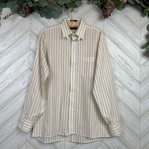 Christian Dior Stripe Button Down Long Sleeves